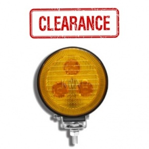 """WL460-RAL Amber 3 1/2"""" Round, 9W, 460Lm Output, 3 LEDs, Long Beam Work Light"""
