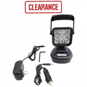 WL623 Portable Work Light with Amber and White LEDs, Flood Beam, Portable & Rechargeable