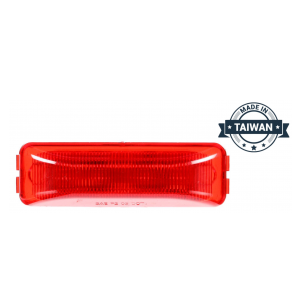 TR56128 LED, Red Rectangular, 4 Diode, Marker Clearance Light (Made in Taiwan)