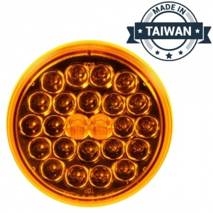 TR56129 LED, Yellow Round, 24 Diode, Front/Park/Turn Taillight (Made in Taiwan)