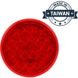 TR56130 LED, Red Round, 24 Diode, Front/Park/Turn Taillight (Made in Taiwan)