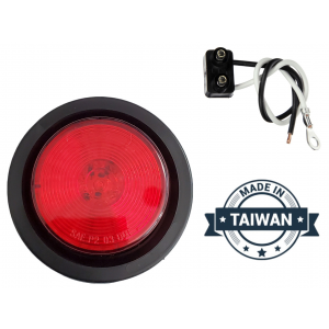 TR56146 LED, Red Round, 13 Diode, Marker Clearance Light with Grommet and Wiring